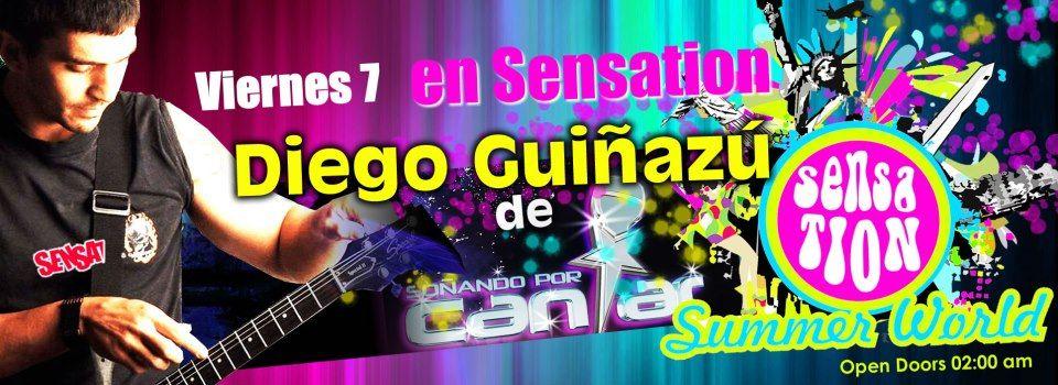 Diego Guiñazú acustico en Sensation, Cruz Alta, Cordoba