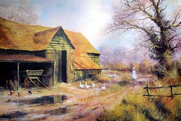 Terry Harrison Watercolor landscape, Landscape
