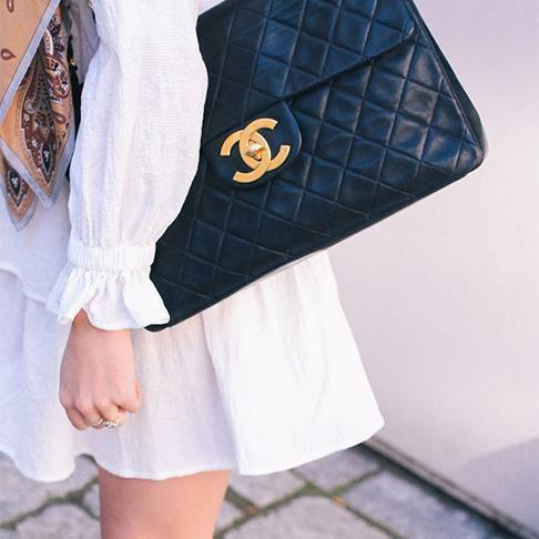 2.55 Beige Flag Bag   2000s Vintage Chanel – Sweet & Spark ...