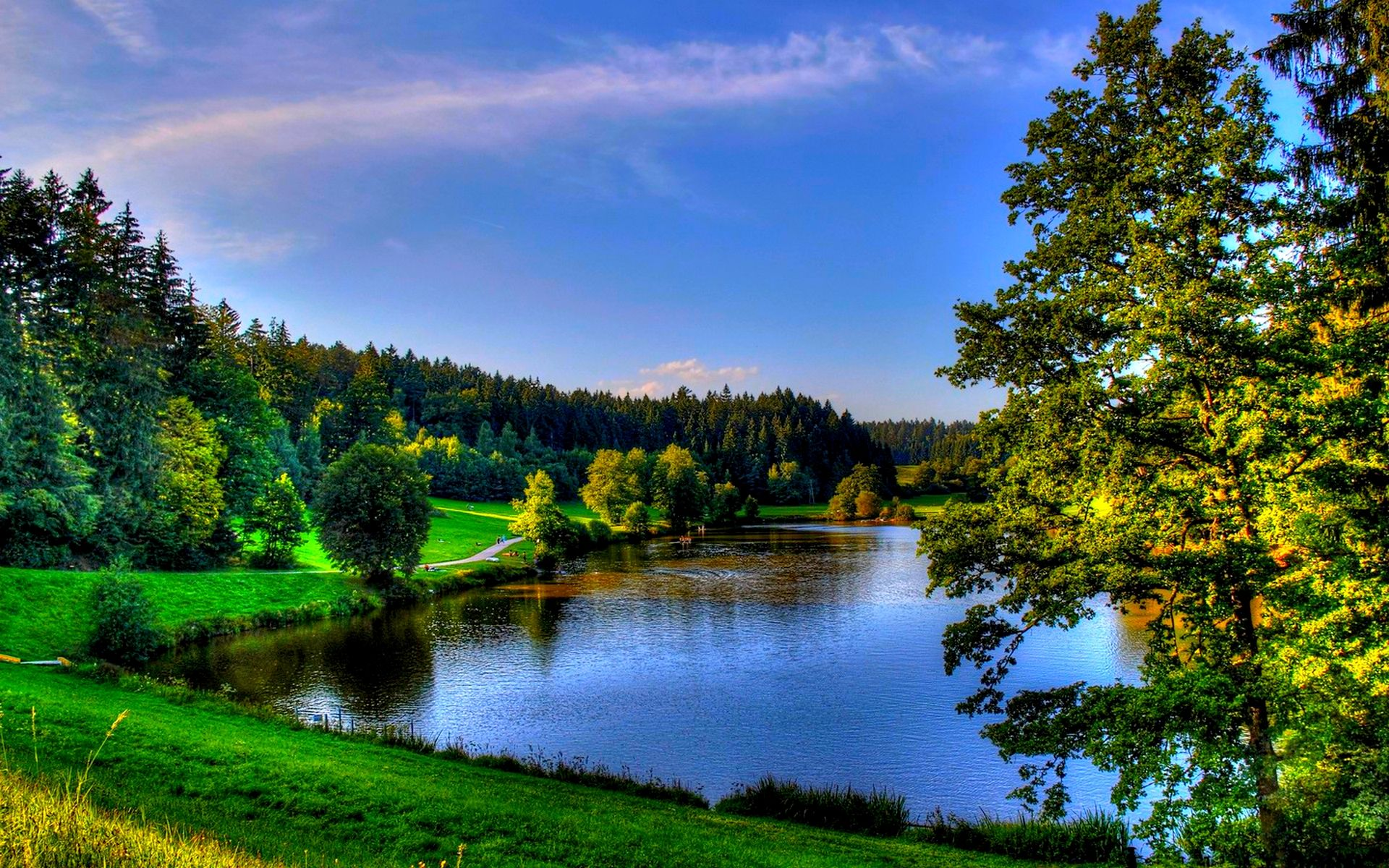 Beautiful Parks In Spring Beautiful Spring View Wallpaper With