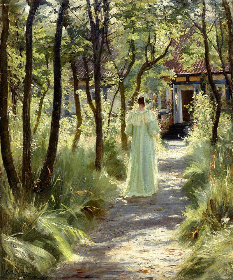 Maria en el jardín.Peder Severin Kroyer1895
