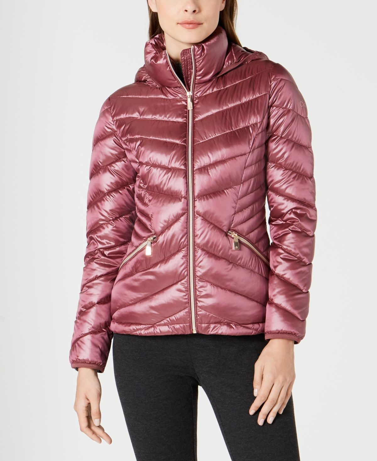 Calvin Klein Chevron Packable Down Puffer Coat Created For Macy S Reviews Coats Women Macy S Down Puffer Coat Puffer Coat Calvin Klein Jeans Women [ 1466 x 1200 Pixel ]