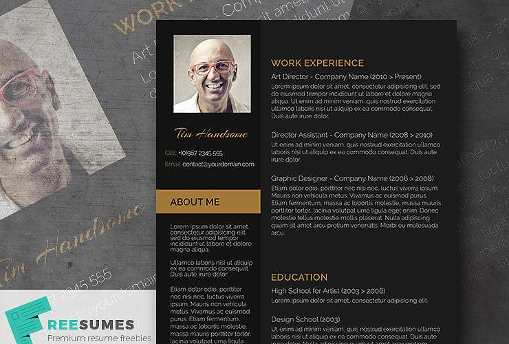 Charcoal Black  A Dark Themed Resume For Free  Creative Resume