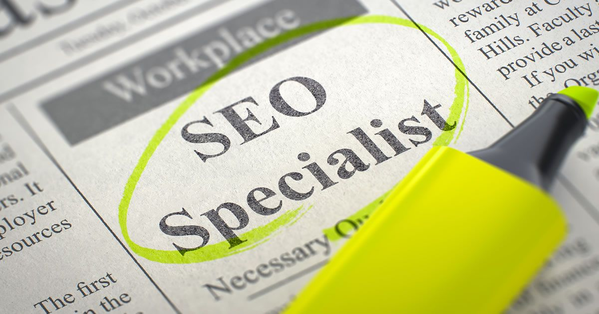 Classified ads with SEO Specialist circled Seo