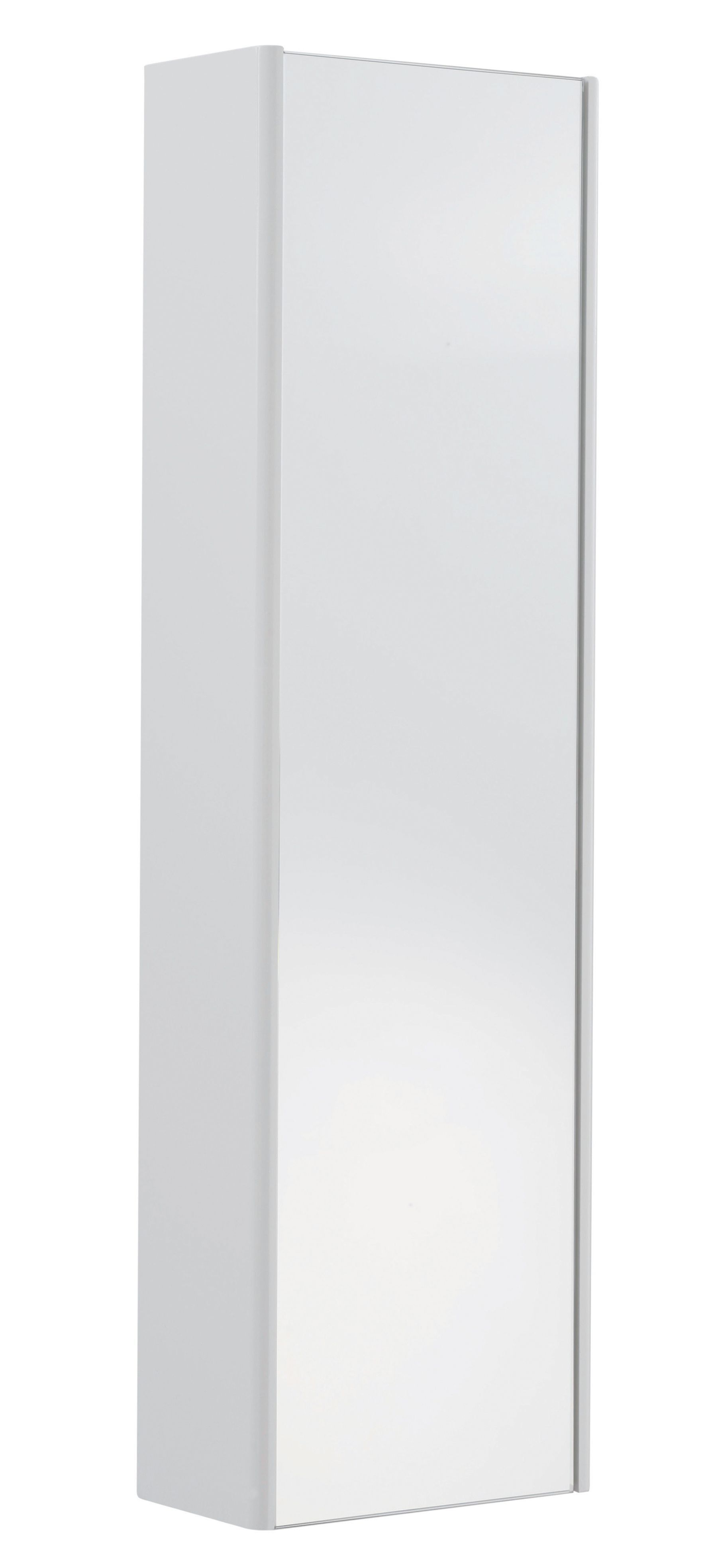 Cooke & Lewis Tobique Single Door White Tall Mirror Cabinet ...