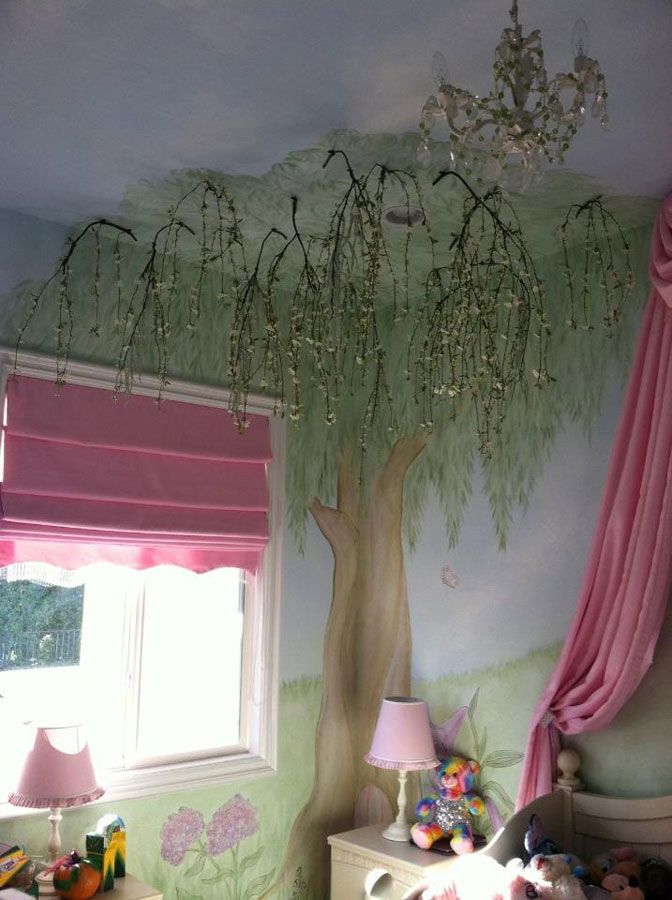 Enchanted Tree Wall Mural Murals By Colette Hand Painted Art I Want To Do 2 Trees In Their Room