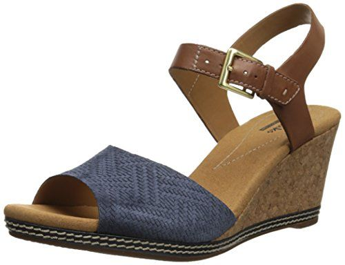 Womens Sandals Clarks Helio Jet Navy
