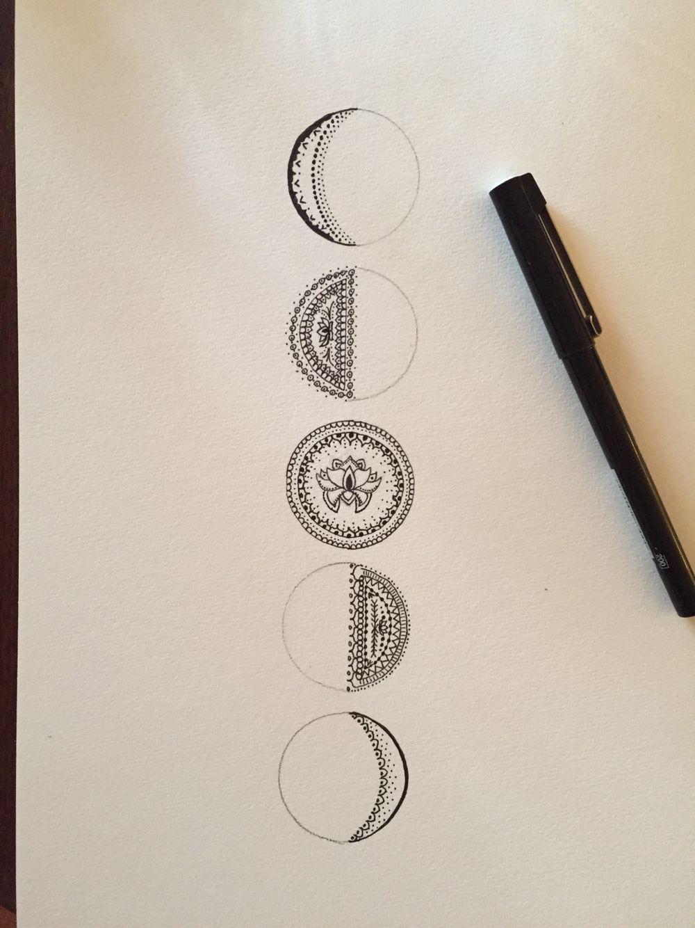 Resultado De Imagen Para Tattoo Moon Fase