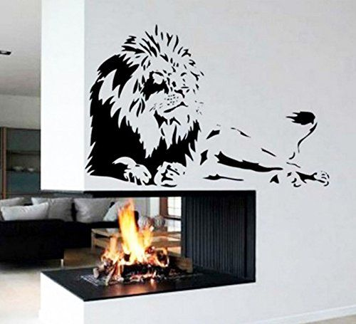 Lion Wall Sticker Removable Art Pvc Vinyl Home Decor Decal Mural Living Room