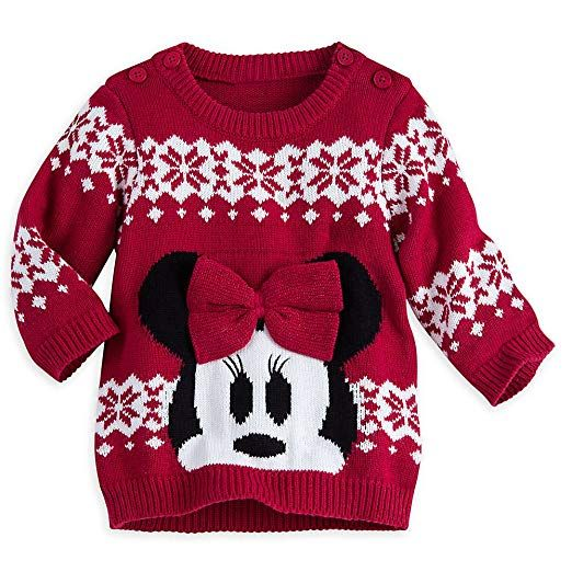 2467ff06d Disney Store Minnie Mouse Holiday Sweater Baby Red