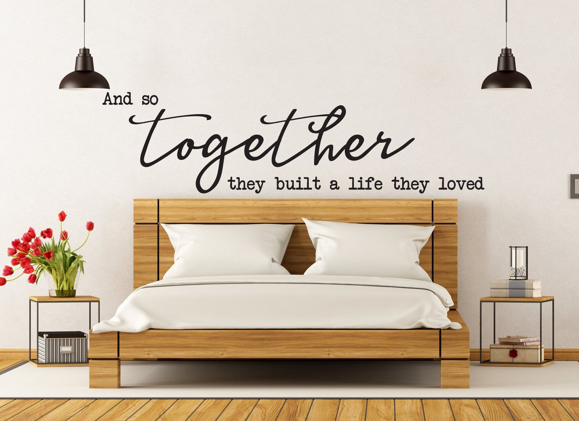 Vinyl Wall Art Decal And So Together They Built A Life Etsy Vinyl Wall Art Decals Decal Wall Art Vinyl Wall Art