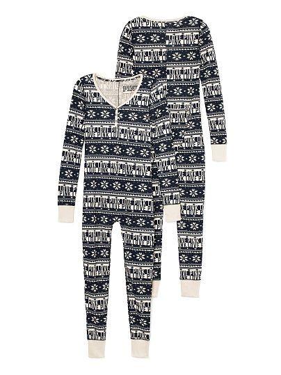 36da1b20119 Thermal Onesie PINK. Thermal Onesie - Pearl White Print - Size M - PINK - Victoria s  Secret Christmas Pajamas