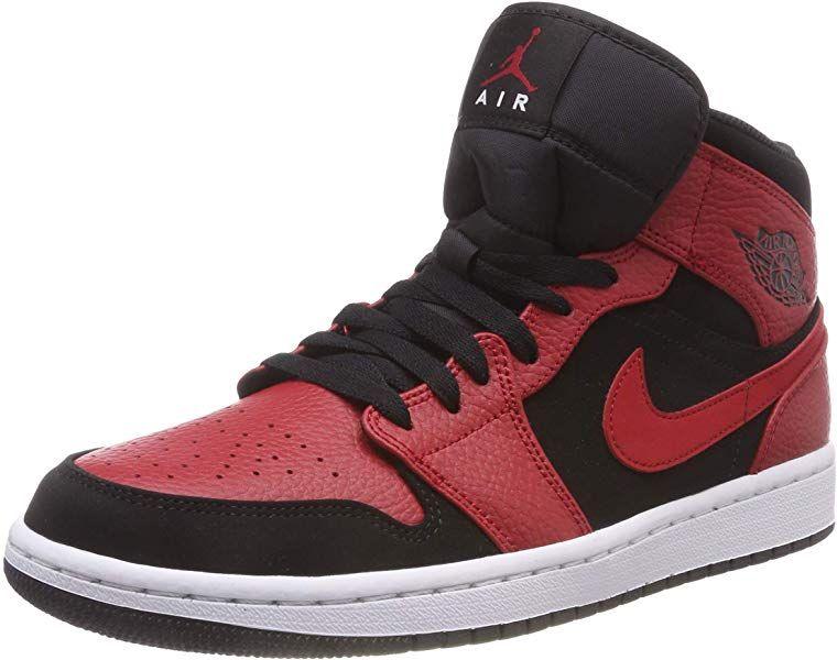 Jordan 1 Mid, Chaussures de Fitness Homm