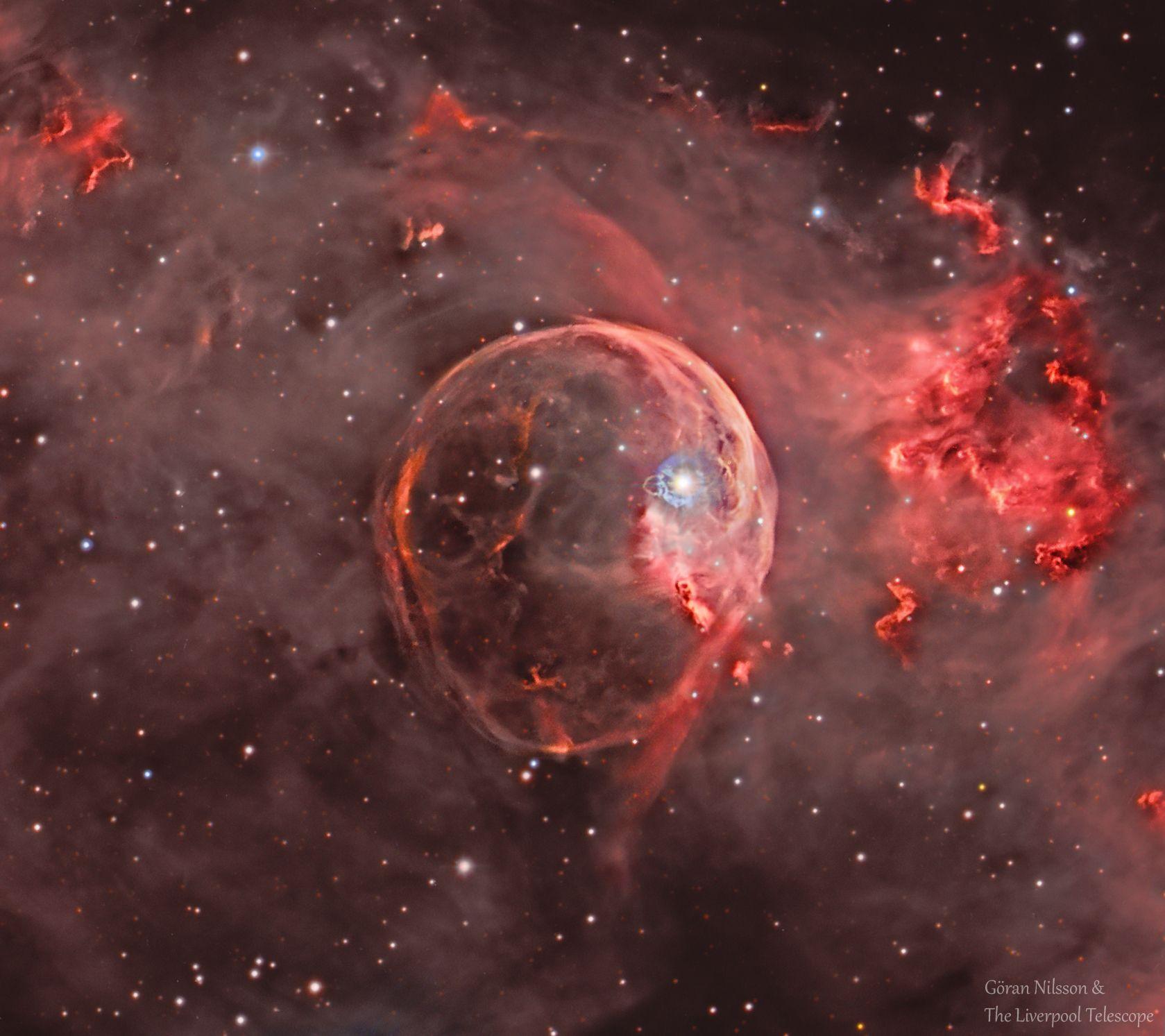 NGC 7635: The Bubble Nebula Expanding