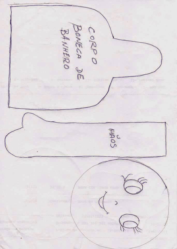 Eu Amo Artesanato: Boneca de banheiro com molde   Artesanato De ...