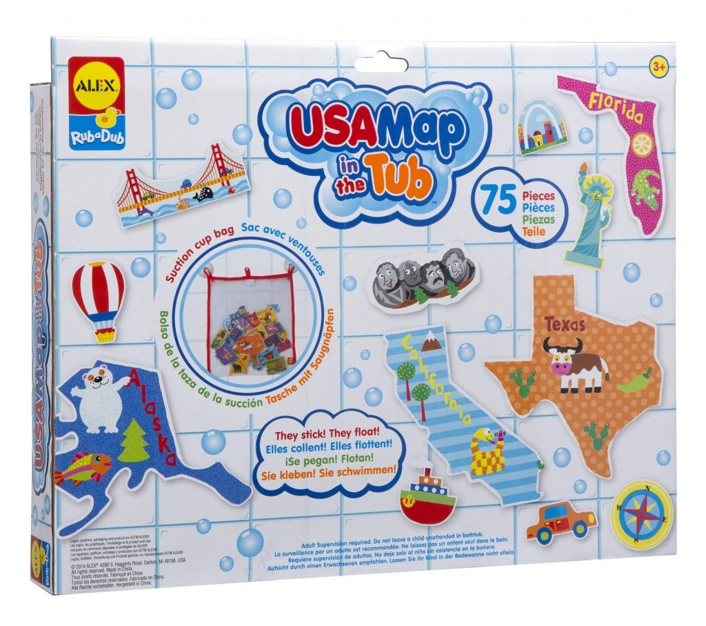 Baby Badewanne Toys R Us Alex Toys Rub A Dub Usa Map In The Tub Bath Toys And Alex Toys