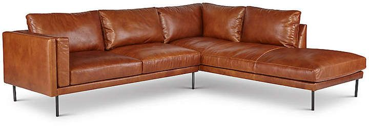One Kings Lane Aiden Sectional Brown