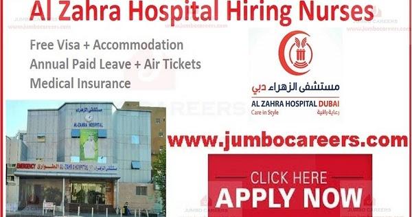 Al Zahra Hospital Sharjah Uae Careers Job Vacancies With Visa Hospital Jobs Hospital Nursing Jobs