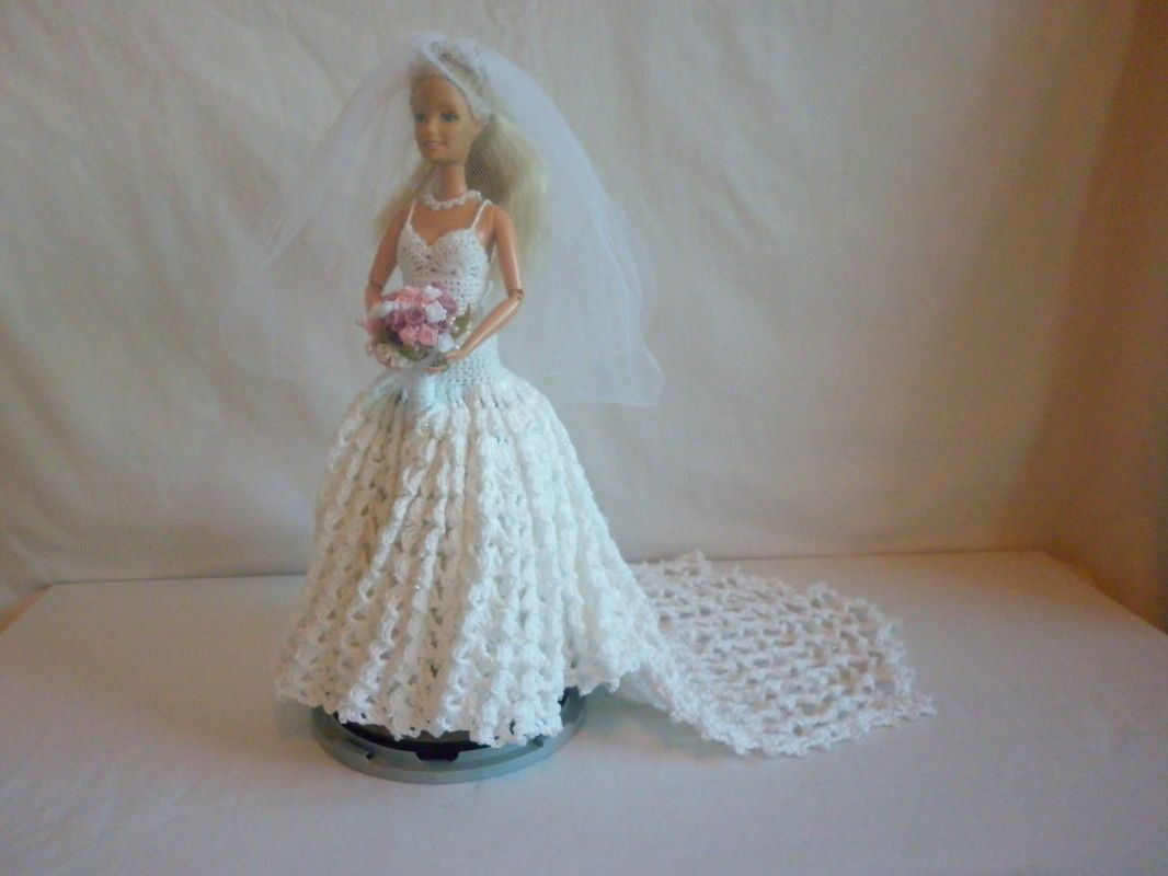 Boo Bear\'s Crochet Barbie Wedding Dress......46....1...6 qw | Barbie ...
