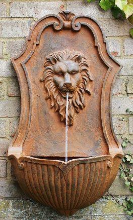 Yard Ideas · Lion Wall Fountain