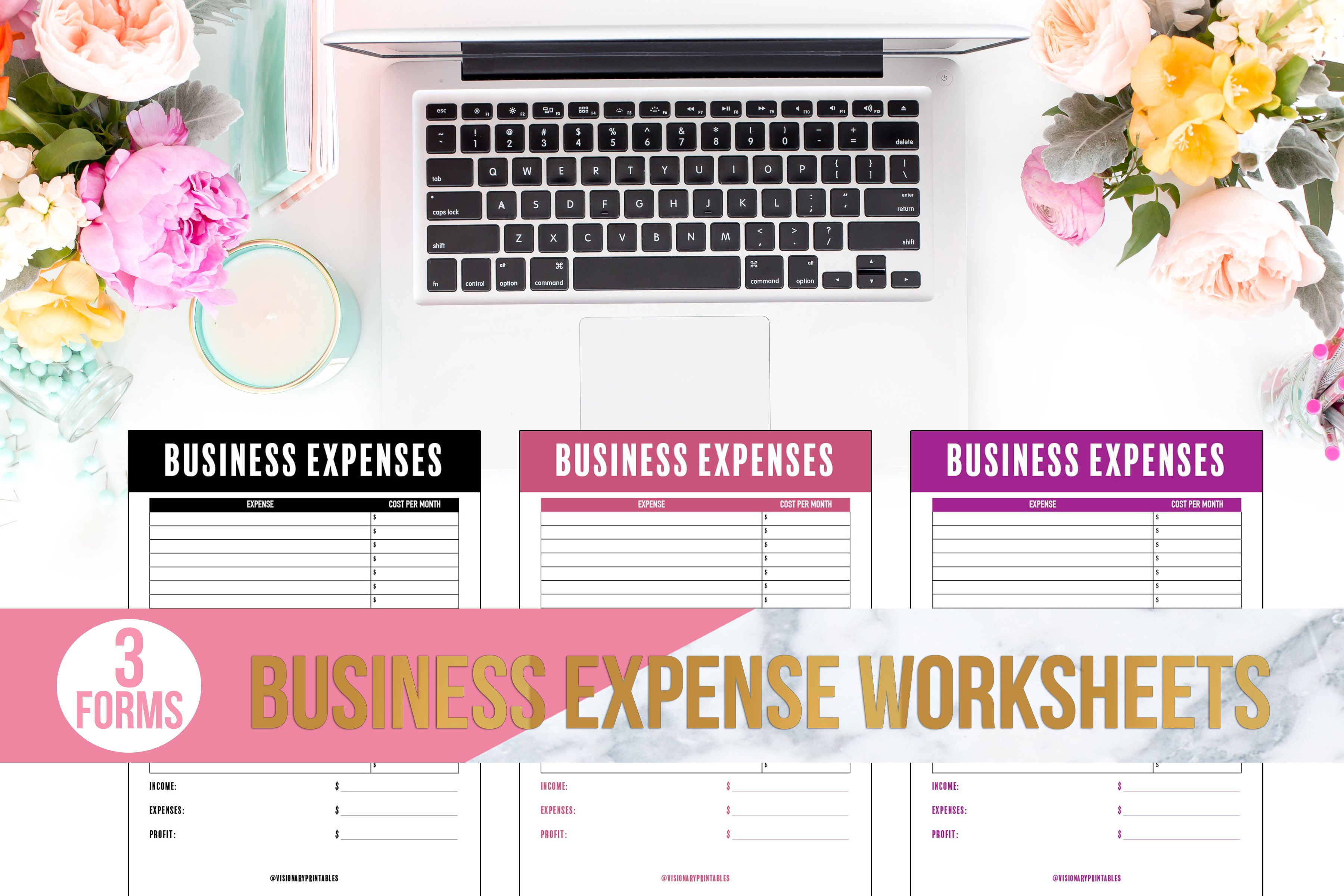 Business Expense Worksheets Business Expenses Profit