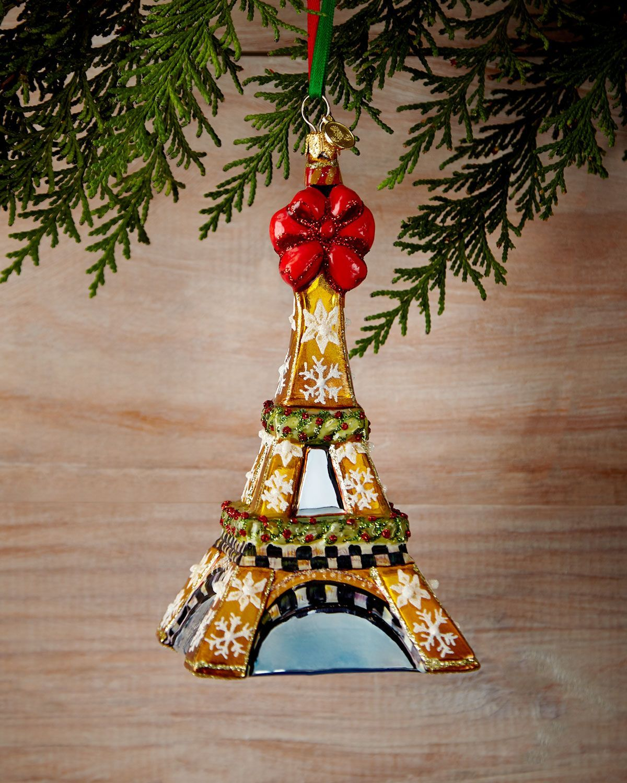 MacKenzie-Childs Eiffel Tower Christmas Ornament $98 | Christmas ...