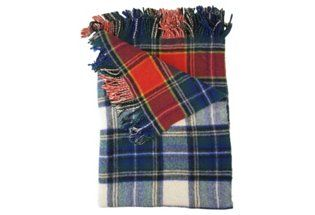 Double-Sided Tartan Wool Throw   Christmas in Provence   One Kings Lane