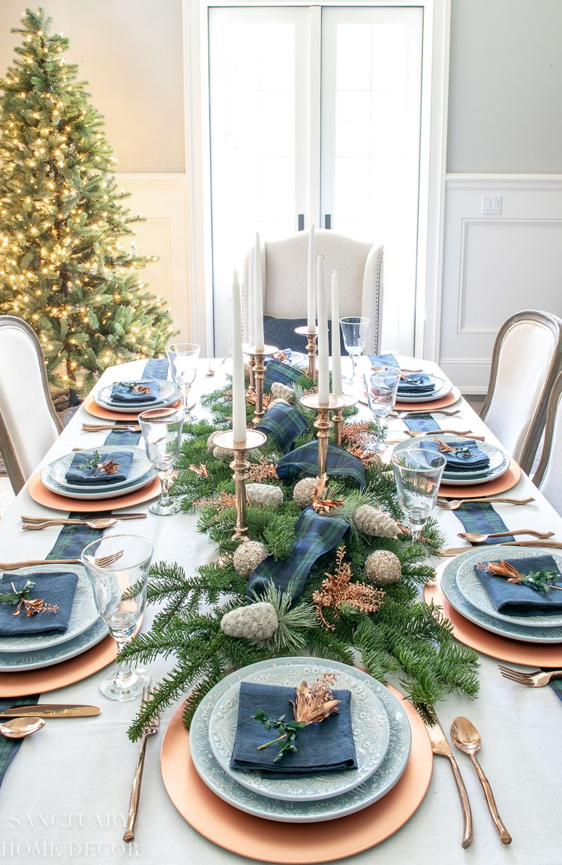 An Easy Christmas Centerpiece For A Long Table Christmas Table Centerpieces Christmas Centerpieces Christmas Decorations For The Home