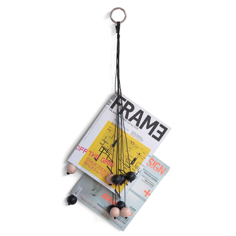 Magazine Hang Out lehtiteline, musta ryhmässä Sisustustavarat / Koristerasiat / Lehtikorit @ ROOM21.fi (117000)
