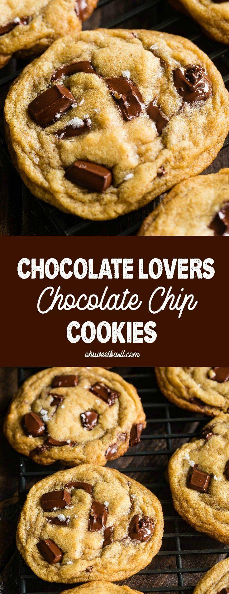 Chocolate Lovers Chocolate Chip Cookies - Oh Sweet Basil