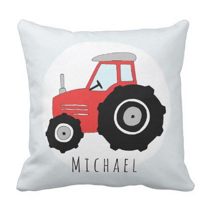 Baby boy doodle red tractor with name nursery throw pillow baby boy doodle red tractor with name nursery throw pillow boy gifts gift ideas diy negle Choice Image