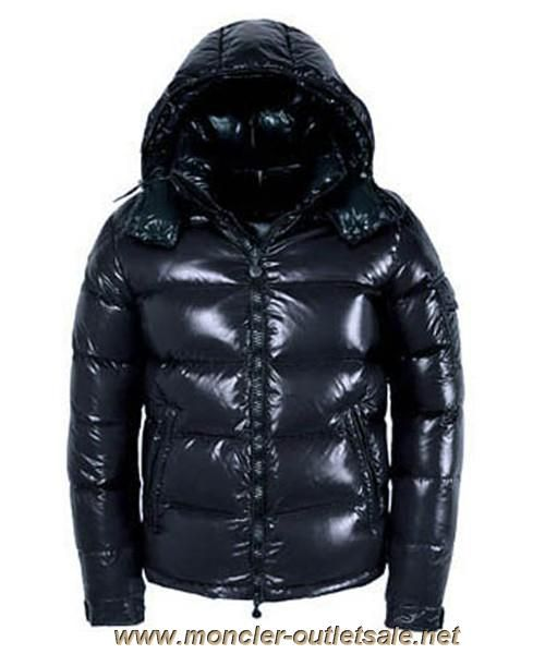 b300bc556 New Moncler Maya Winter Down Jacket Mens Short Glossy Zip Dark Blue ...