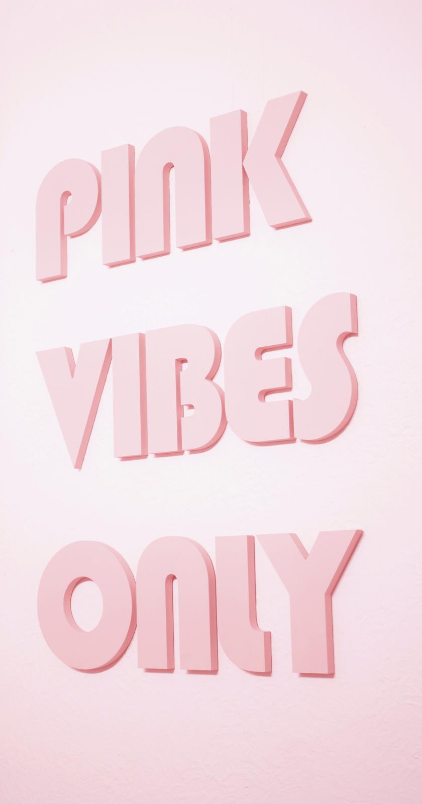 Rosa Ästhetik Wallpaper für iPhone, fühlen sich die rosa