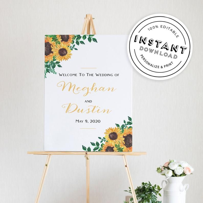 Instant Download Rustic Welcome Sign Welcome to Our Editable Wedding Template Wedding Sign Welcome Sign Wedding Decor Wedding Signs