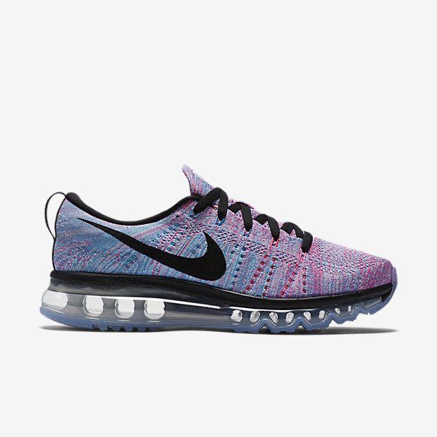 size 40 bf2d0 f3fbe Nike Flyknit Max Womens Running Shoes White Black Blue Pink Blast 620659  104  Nike  RunningCrossTraining