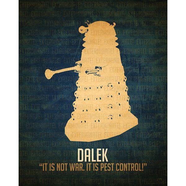 Doctor Who Art Prints 3.5x5 Science Fiction Alien Villain Art Poster ...