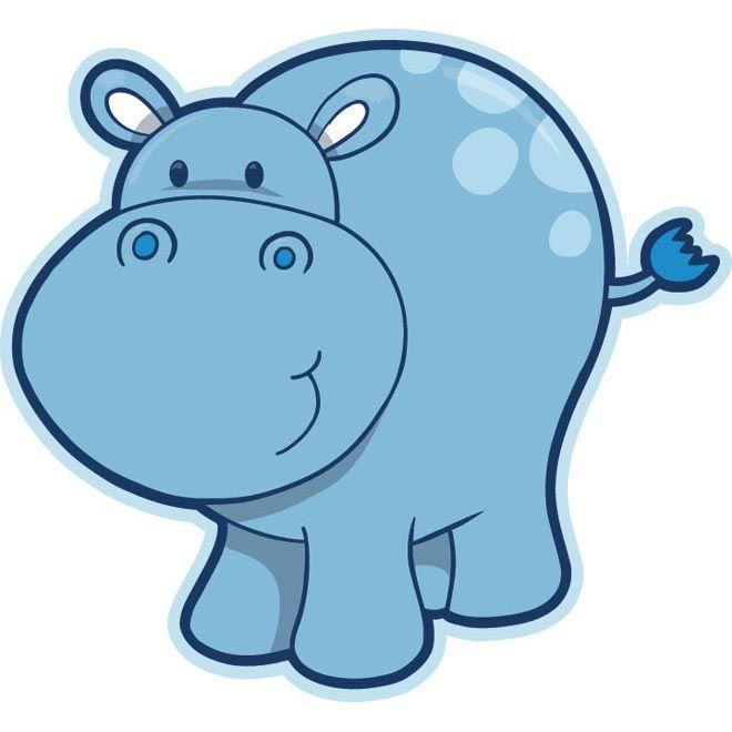Cute baby hippopotamus drawing vector hippos