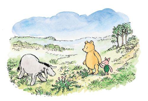 Winnie and eyore find a dandelion poo christopher - Habitacion winnie the pooh ...