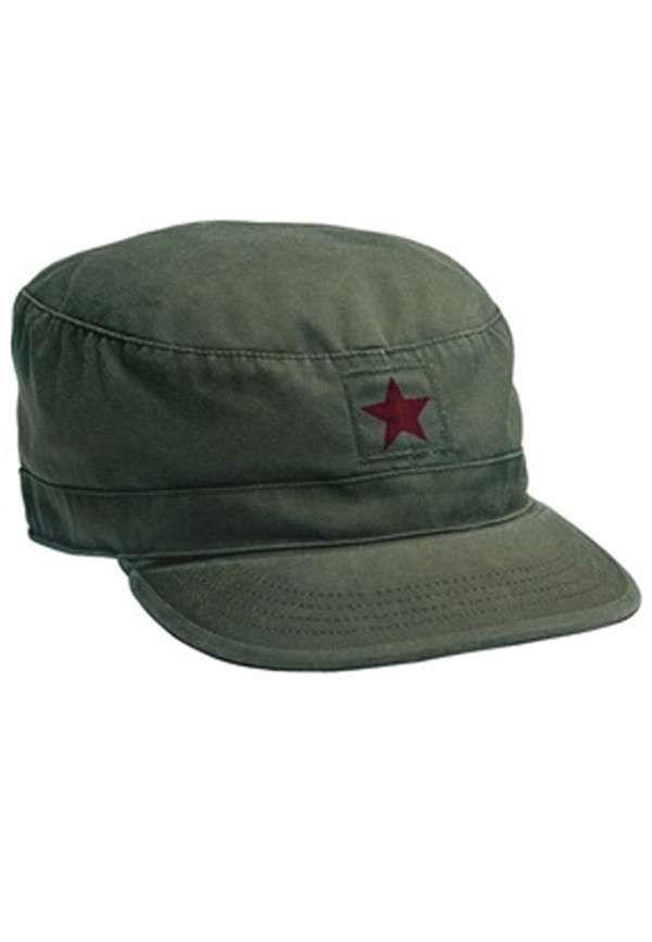 c7ae3bbbedb46 OD w China Star Vintage Military Fatigue Cap Military Surplus