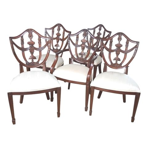 Maitland Smith Dining Chairs Ikea Chair Covers Review Hepplewhite Set Of 5 Table Diningchairs