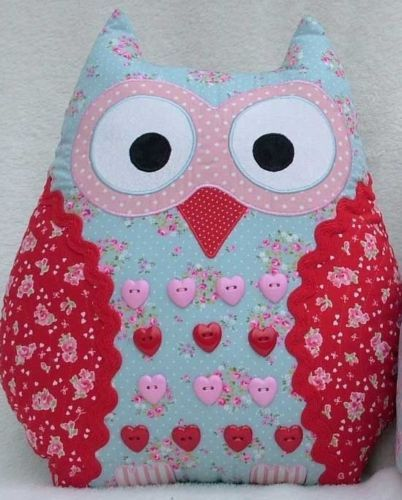 PATCHWORK / QUILTING APPLIQUE OWL CUSHIONS SEWING PATTERN GP | eBay ...