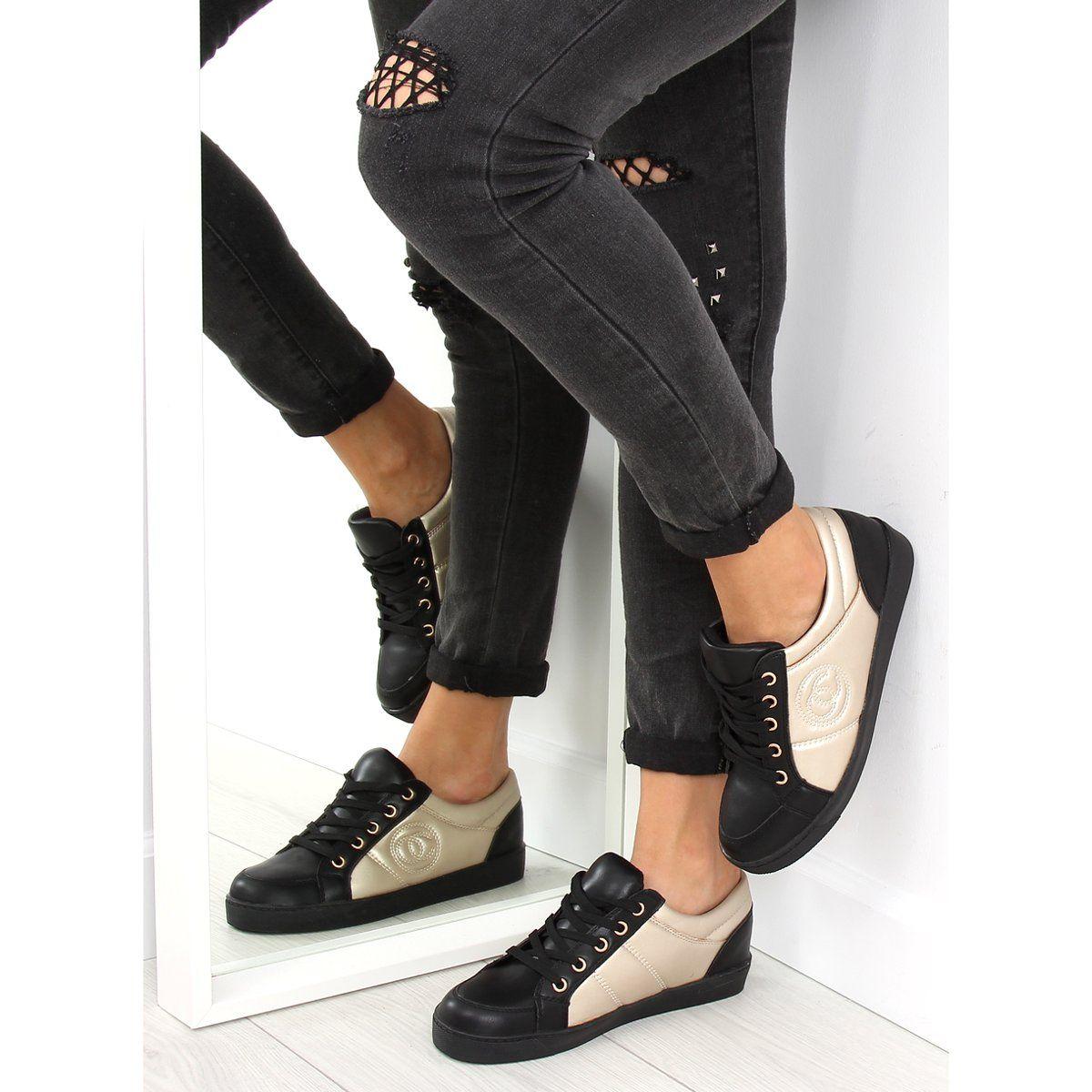 Trampki Chanelki Y612 Black Czarno Zlote Czarne Sneakers Shoes Puma Sneaker