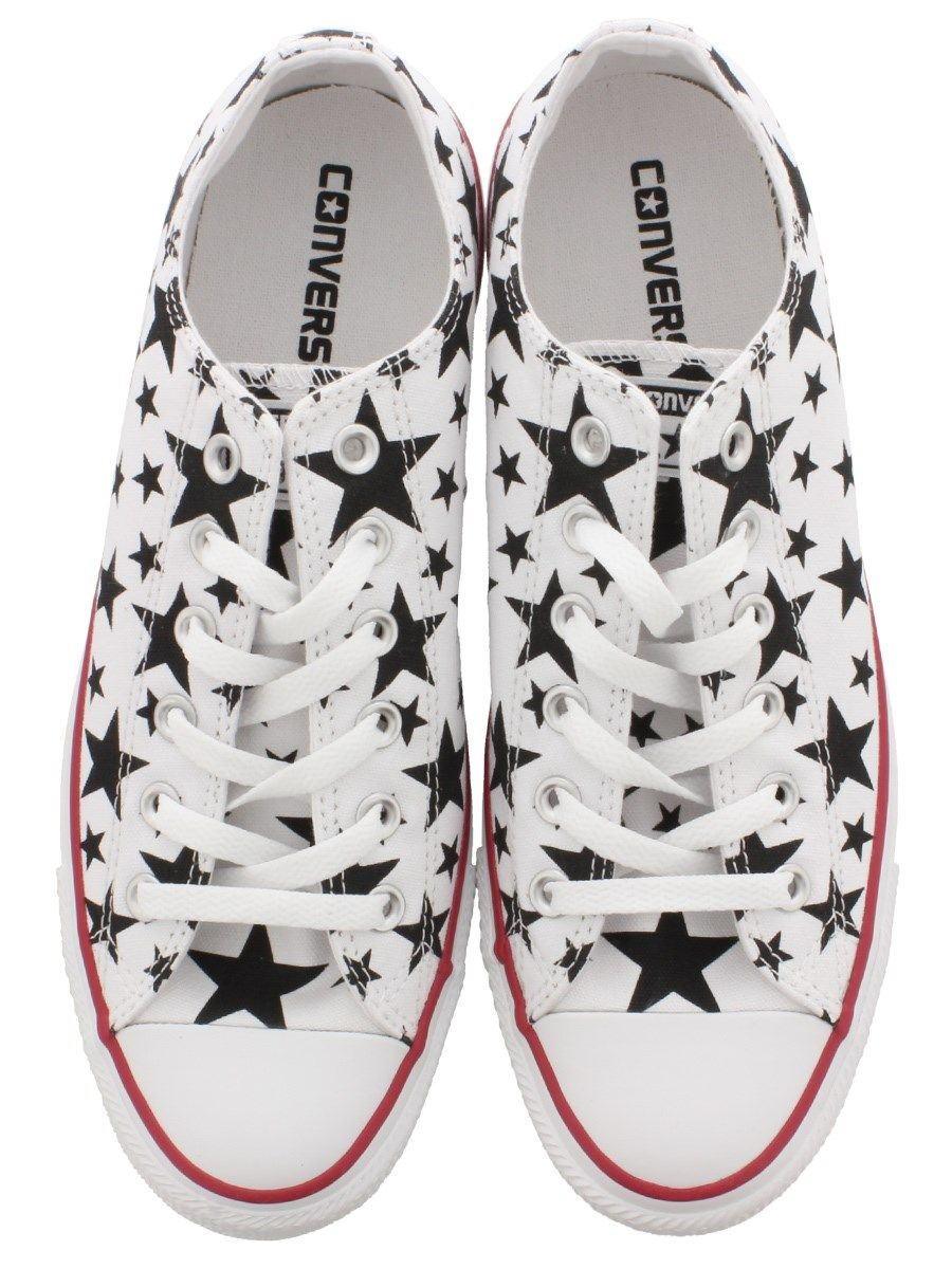 Converse Chuck Taylor All Star Black and White Stars Ox