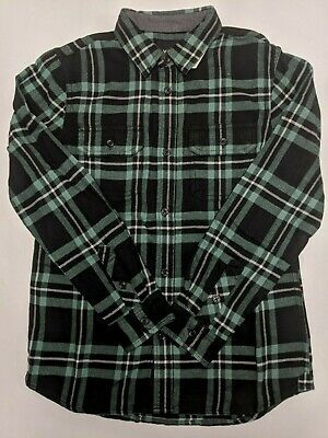 Vans New Westminster Button Down Shirt Youth Boy's Medium Black/Green #fashion #clothing #shoes #accessories #kids #boys (ebay link)