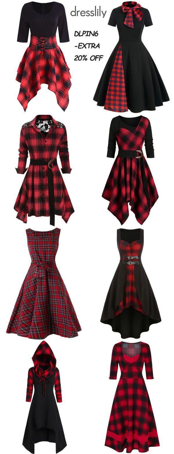 10+ Plaid christmas dress info