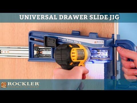 Rockler Universal Drawer Slide Jig Drawers Wood Magazine Woodworking Jigs