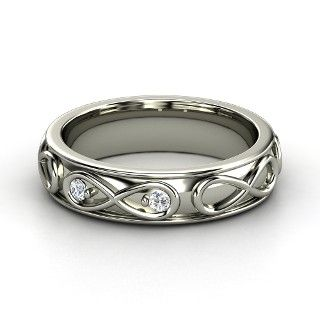 infinite love ring sterling silver ring with diamond from gemvara paar ringe pinterest. Black Bedroom Furniture Sets. Home Design Ideas