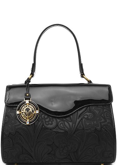 Сумка Valentino Orlandi 3006 Black Flower Clutches Designer Handbags Bags