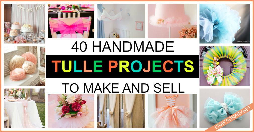 diy tulle fabric projects to make and sell at home craftionary net