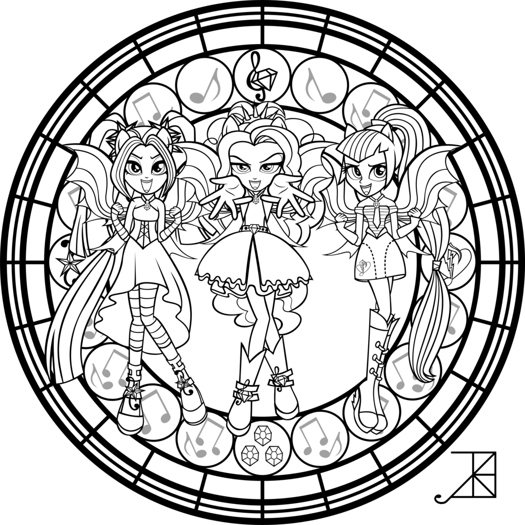 sg dazzlings coloring page by akili amethyst deviantart com on